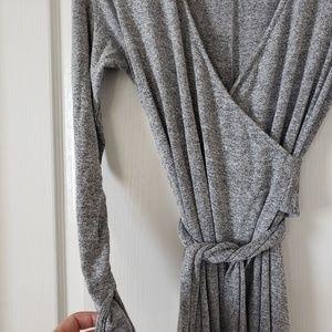 GAP Dresses - GAP cascading wrap heathered grey dress